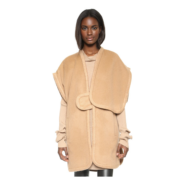 DESIGNERS REMIX Panda poncho - A chic Designers Remix poncho crafted in texture rich...