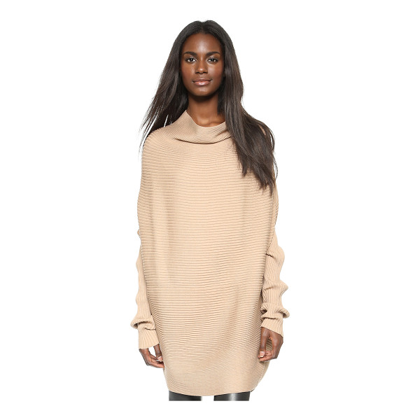 DESIGNERS REMIX Ribly drape pullover - A dramatic cowl neckline and batwing sleeves give modern...