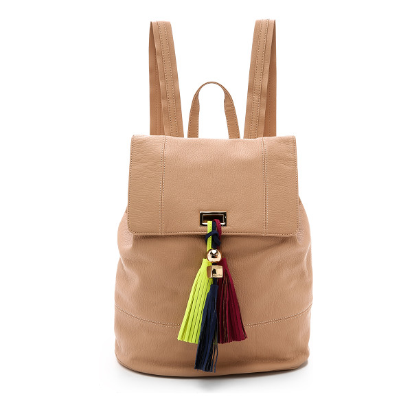 DEUX LUX Karma backpack - A trio of colorful tassels hangs from the top flap of this