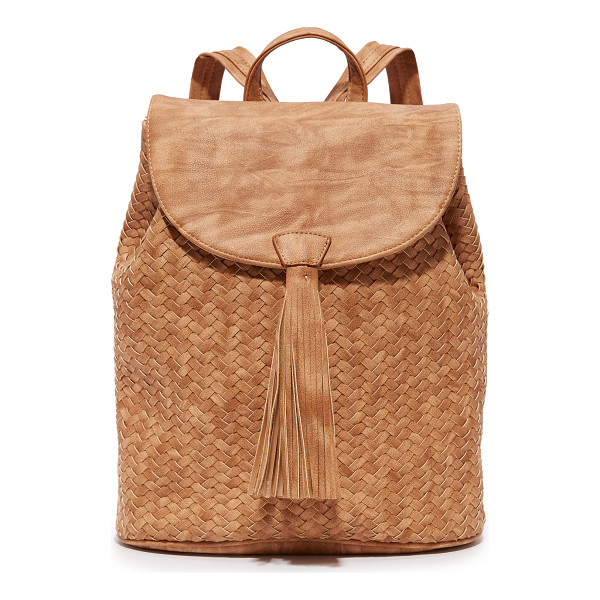 DEUX LUX Deux Lux Madison Backpack - A woven front adds texture to this faux leather Deux Lux