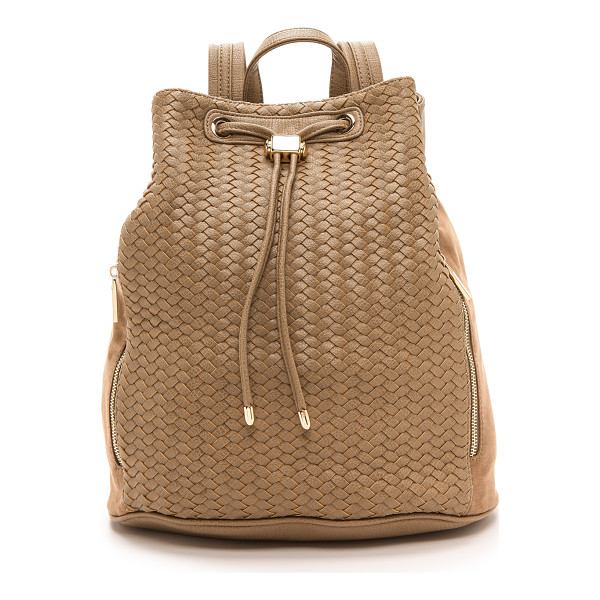 DEUX LUX Wooster backpack - A Deux Lux backpack with a woven front panel and a faux