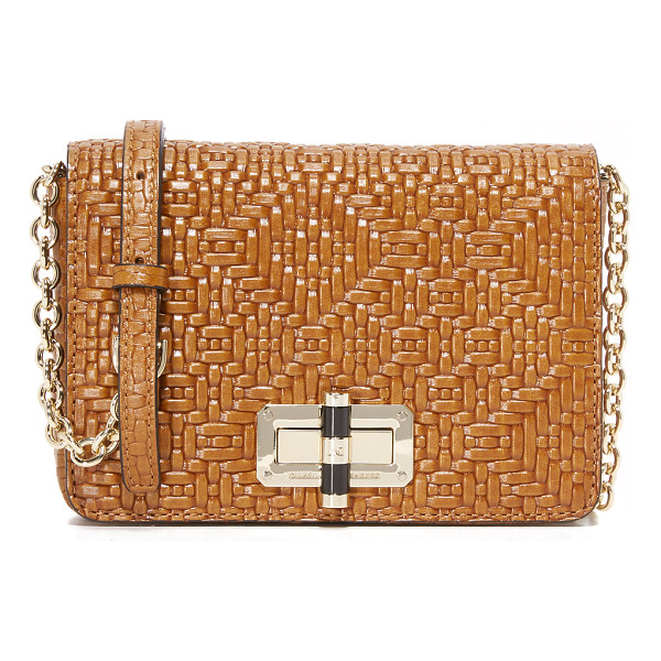 DIANE VON FURSTENBERG 440 gallery bellini cross body bag - A petite DVF cross body bag in woven leather. Slim back