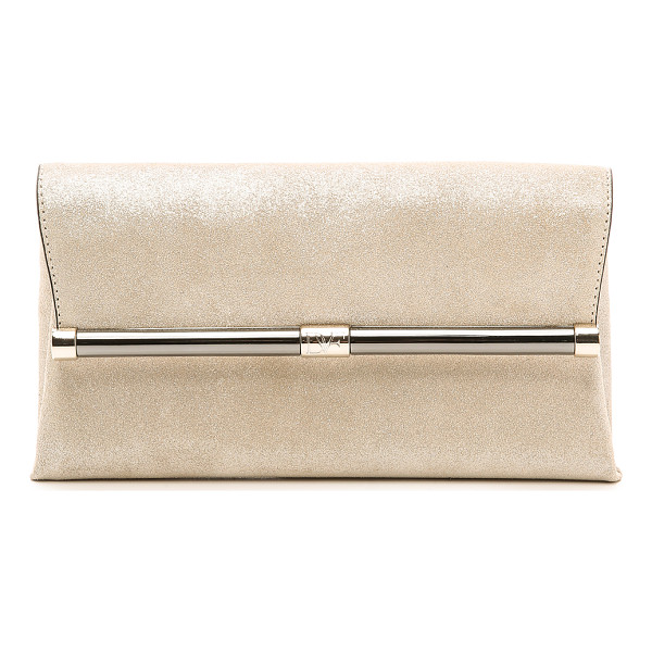 DIANE VON FURSTENBERG 440 stardust clutch - A refined DVF clutch in glitter infused suede. Back pocket...
