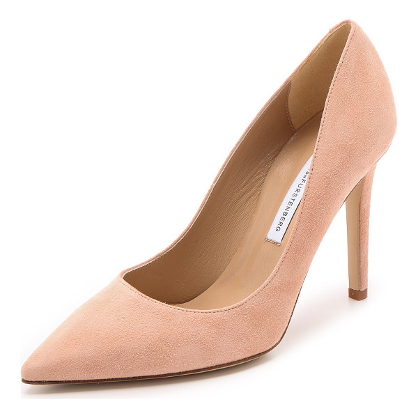 DIANE VON FURSTENBERG Bethany suede pumps - Pointed toe DVF pumps constructed from luxurious brushed