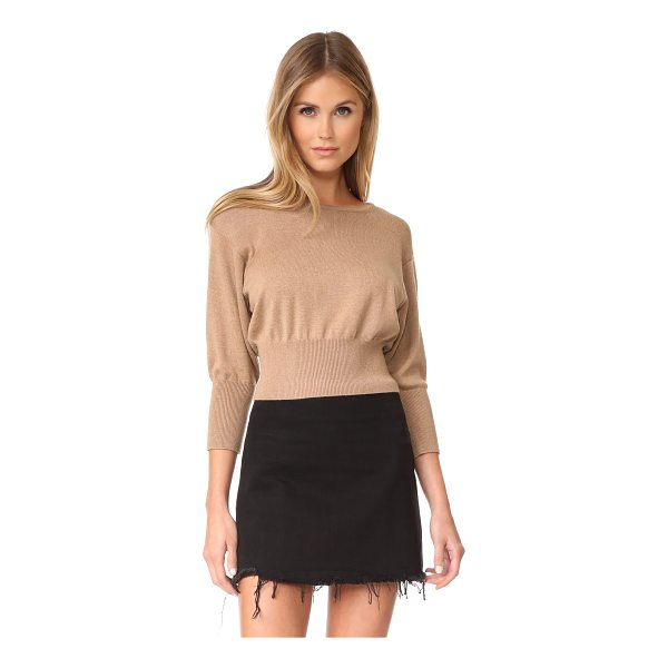 DIANE VON FURSTENBERG crew neck knit pullover - This relaxed DVF sweater has a wide, ribbed waistband and a...