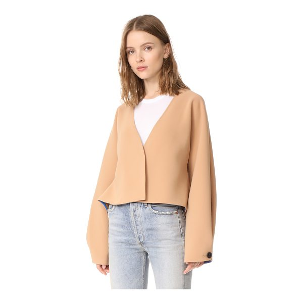 DIANE VON FURSTENBERG cropped button up jacket - An unstructured DVF crop jacket with a relaxed silhouette....