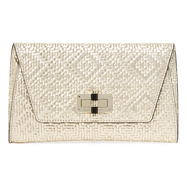 DIANE VON FURSTENBERG 440 gallery uptown clutch - Crisp woven leather composes this sophisticated DVF clutch.