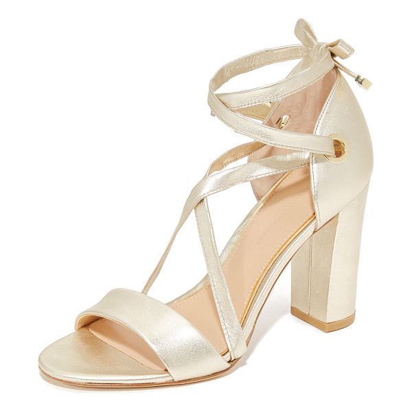 DIANE VON FURSTENBERG calabar sandals - Rich, metallic leather DVF sandals with modern lace-up...