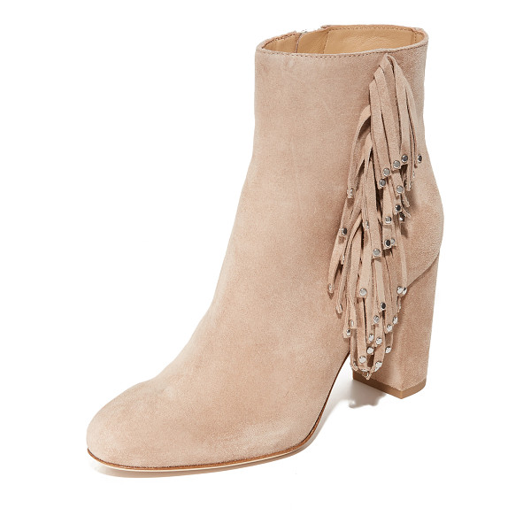 DIANE VON FURSTENBERG forti fringe booties - Polished studs trim the fringe on these suede DVF booties.