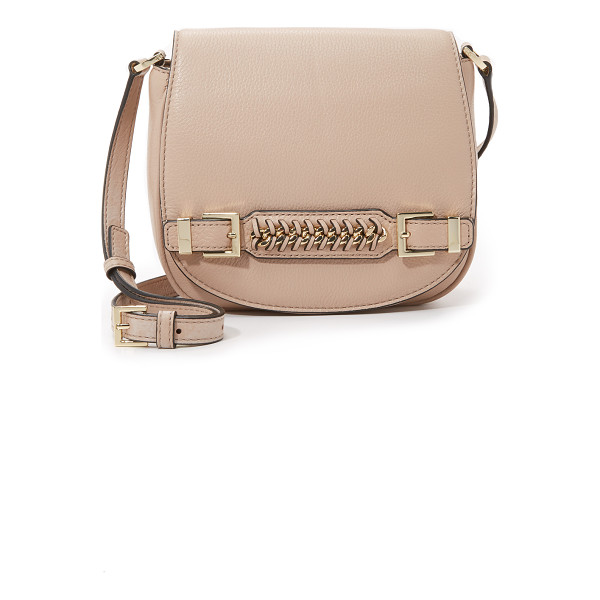 DIANE VON FURSTENBERG Iggy saddle bag - A slim handle with woven trim details the front flap of