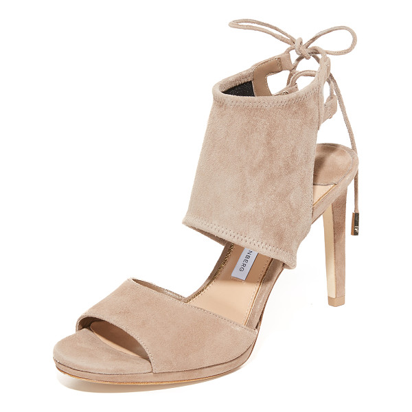 DIANE VON FURSTENBERG laie sandals - A substantial ankle cuff is secured with slim ties on these...