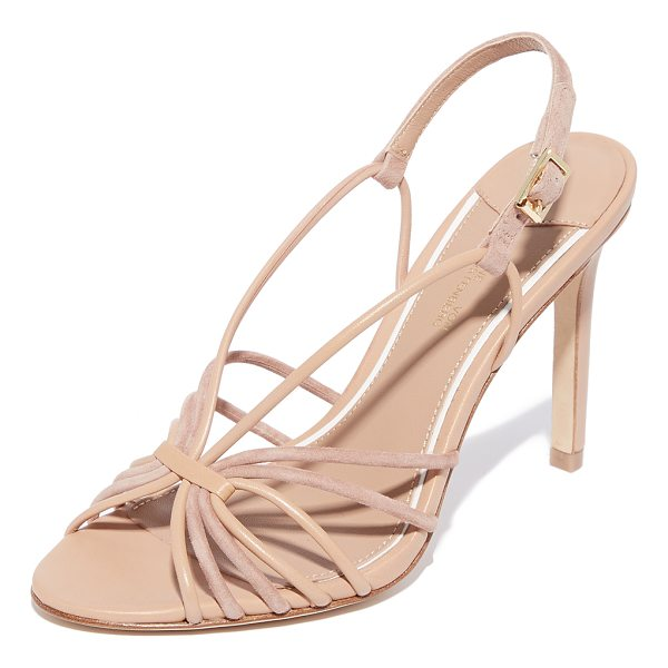 DIANE VON FURSTENBERG milena strappy sandals - Mixed leather and suede straps form the vamp of these...