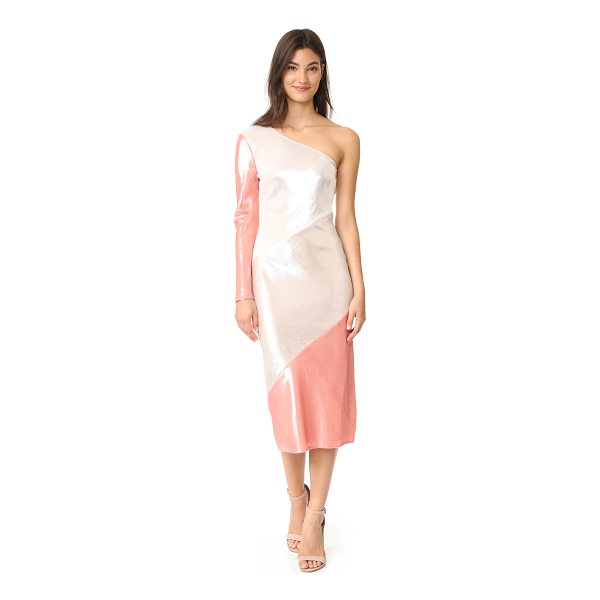 DIANE VON FURSTENBERG one shoulder bias midi dress - This eye-catching DVF gown is covered in a smooth wash of...