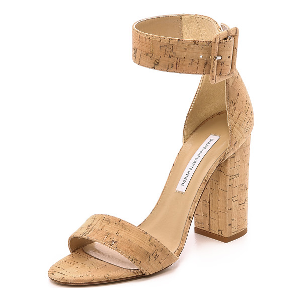 DIANE VON FURSTENBERG Ulrica cork sandals - Cork covered DVF sandals with a sense of natural elegance....