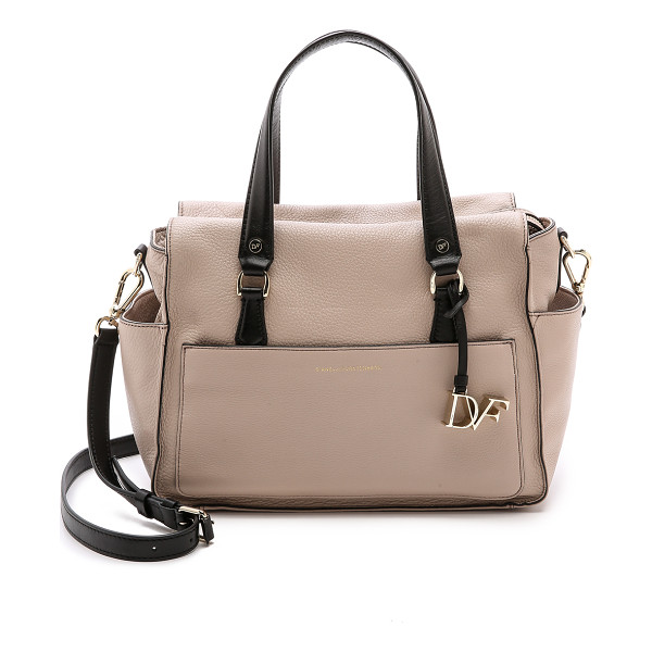 DIANE VON FURSTENBERG Voyage colorblock satchel - Colorblocking brings a bold look to this DVF satchel, cut