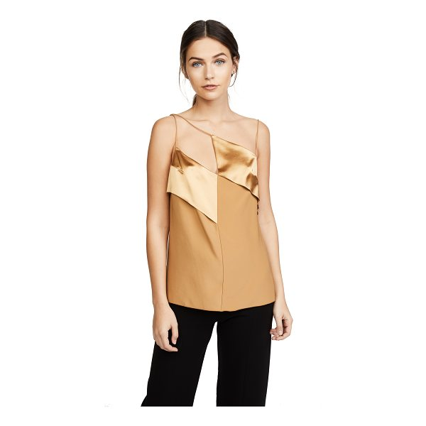 DION LEE diagonal cami - This silk-charmeuse Dion Lee camisole has matte and...