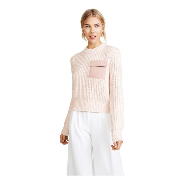 DION LEE long sleeve pocket sweater - This relaxed Dion Lee sweater is detailed with tonal suede...