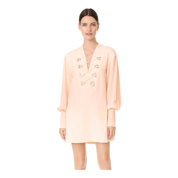 DION LEE military blouson mini dress - NOTE: Sizes listed are UK/Australian. A striking pink Dion...