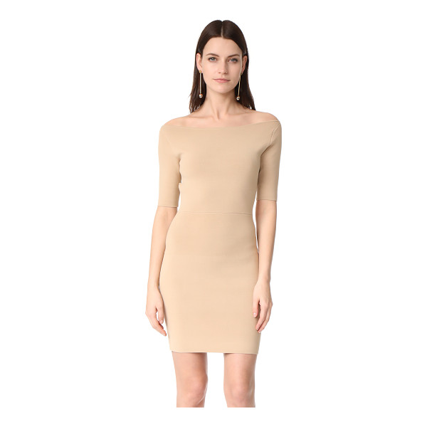 DION LEE rib knit pencil dress - NOTE: Sizes listed are Australian. A shoulder-baring...