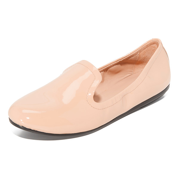DKNY alan loafers - Menswear-inspired DKNY flats, updated in glossy patent...