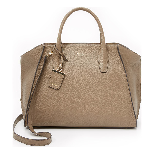 DKNY Chelsea large satchel - Raised seams add sculptural detail to this spacious DKNY