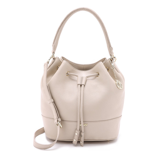 DKNY Drawstring bucket bag - A slouchy DKNY bucket bag in refined pebbled leather. An