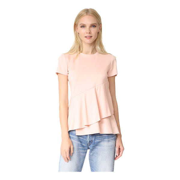 DKNY ruffle top - This asymmetrical DKNY tee is detailed with a wide,...
