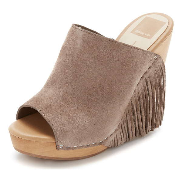 DOLCE VITA Dolce Vita Cai Wedges - Fringed suede, peep toe Dolce Vita wedges with a retro...