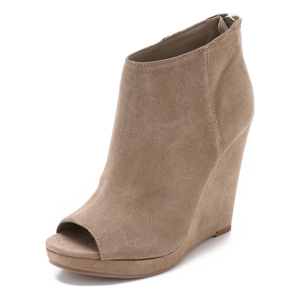 DOLCE VITA Demy suede wedge booties - Plush Dolce Vita booties made from lightweight suede. Open...