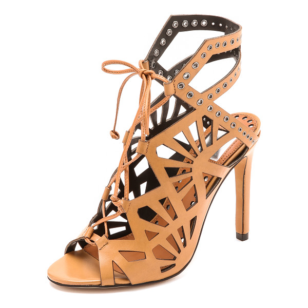 DOLCE VITA Helena sandals - Cutouts and grommets lend an edgy feel to lace up Dolce...