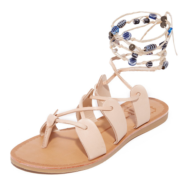 DOLCE VITA jalen gladiator sandals - Painted beads accent the braided, wraparound ties on these...