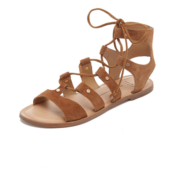 DOLCE VITA Jasmyn suede gladiator sandals - Petite, polished studs accent the suede straps on these...