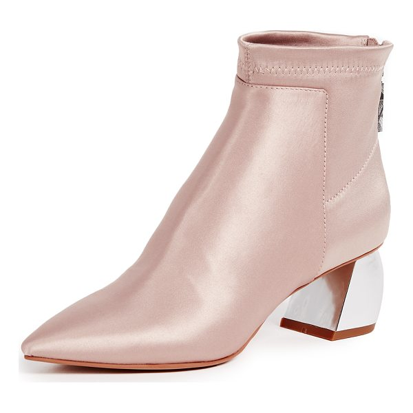 DOLCE VITA jonn block heel ankle boots - Pointed-toe Dolce Vita booties crafted in panels of luxe...