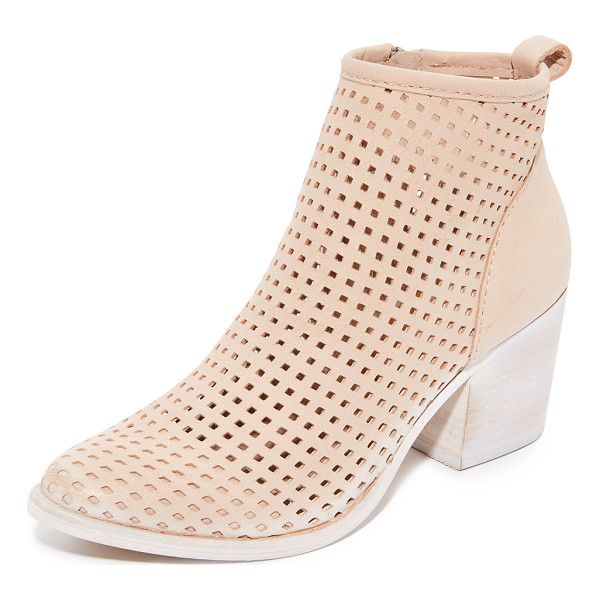DOLCE VITA kenyon perforated booties - A painted, notched heel adds unique style to these...