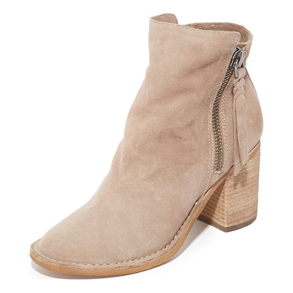 DOLCE VITA lana booties - Soft suede Dolce Vita booties detailed with side zips and...