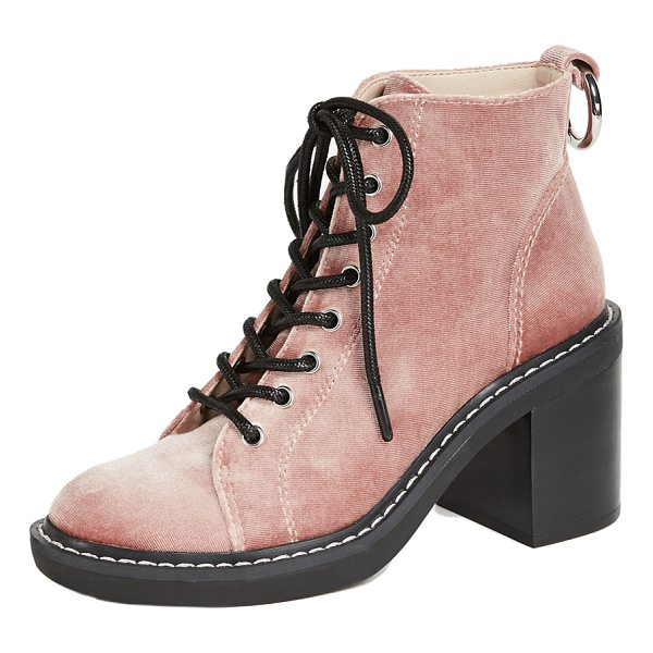 DOLCE VITA lynx combat heeled boots - A stacked, block heel adds a solid lift to these soft...