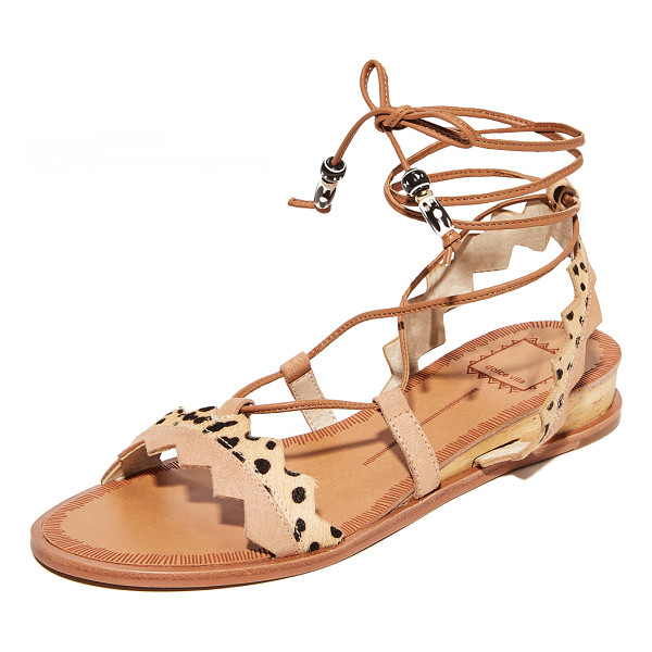 DOLCE VITA pedra sandals - Zigzag straps composed of cheetah-print haircalf and...