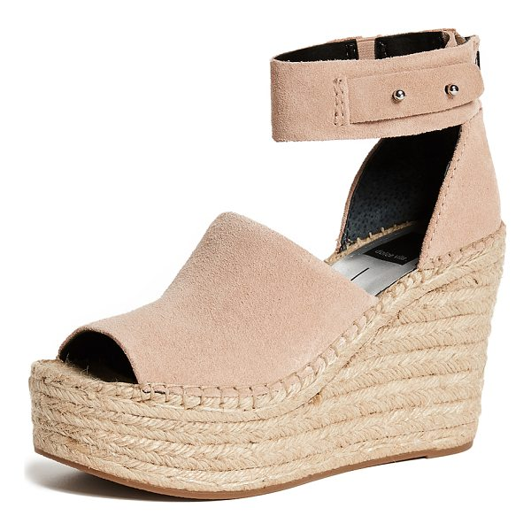 DOLCE VITA straw wedge espadrilles - Leather: Cowhide Strappy silhouette Wedge heel Platform...