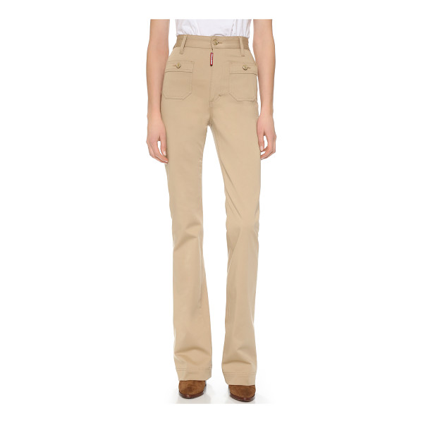 DSQUARED2 High waisted pants - These flared DSQUARED2 pants channel retro style, cut to a...