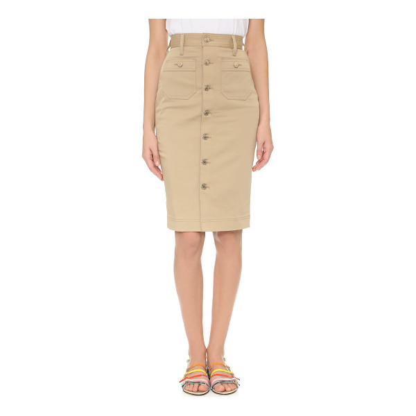 DSQUARED2 High waisted skirt - A sleek, utilitarian DSQUARED2 pencil skirt with embossed...