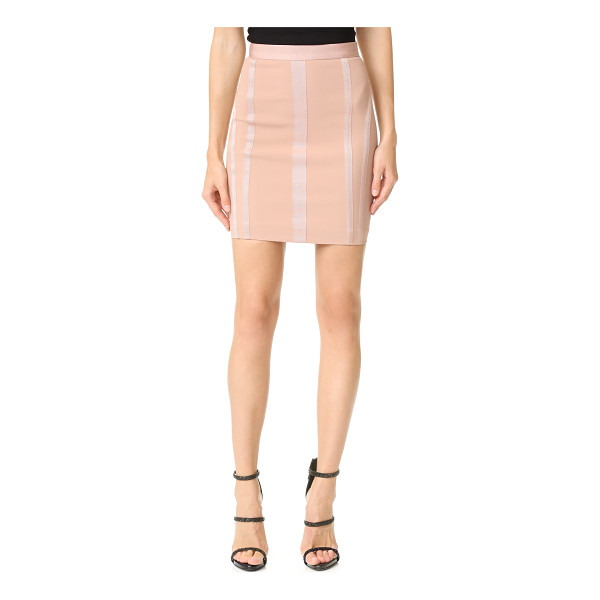 DSQUARED2 miniskirt - Grosgrain ribbons create a striking contour on this...