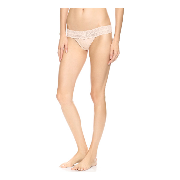 EBERJEY Amaya thong - A stretch lace Eberjey thong with delicate appeal....