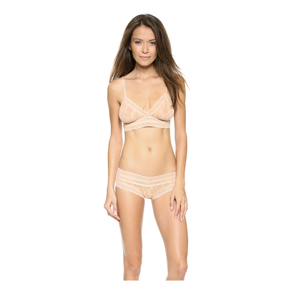 EBERJEY bluebird amaya bralette - This sheer stretch-lace bralette features scalloped edges...
