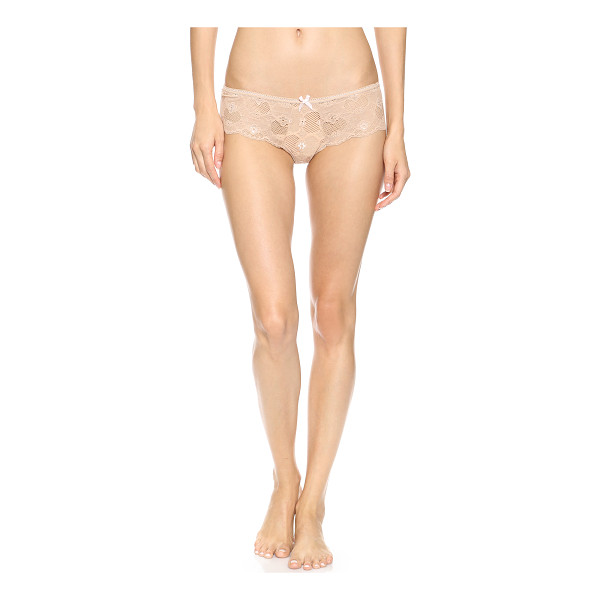 EBERJEY Isabella lace thong - Floral embroidery adds feminine flair to this lace Eberjey...