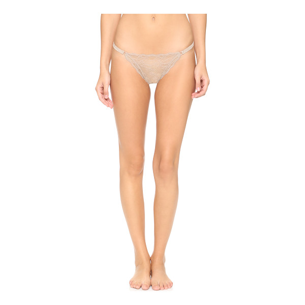 EBERJEY String thong - An alluring Eberjey thong in floral lace. Polished rings...