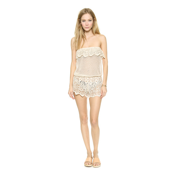EBERJEY Sun warrior nina cover up romper - Crocheted lace brings delicate beauty to this Eberjey...