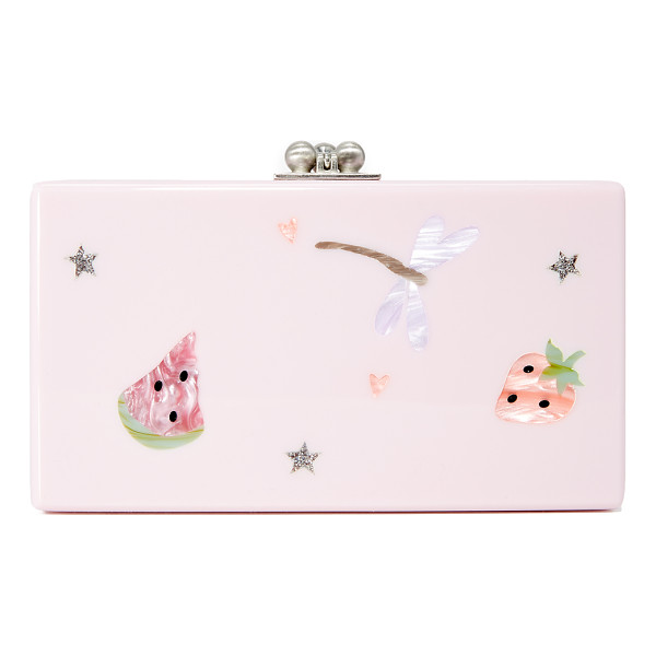 EDIE PARKER jean picnic clutch - A hardshell Edie Parker clutch in glossy acrylic, accented...