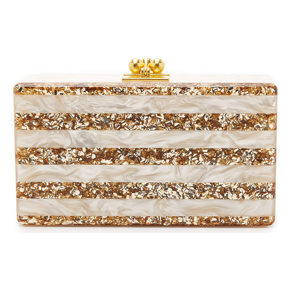 EDIE PARKER jean striped clutch - A luxe Edie Parker hardshell clutch, crafted from...