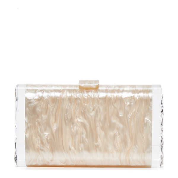 EDIE PARKER lara solid clutch - A swirling acrylic Edie Parker clutch with translucent,...