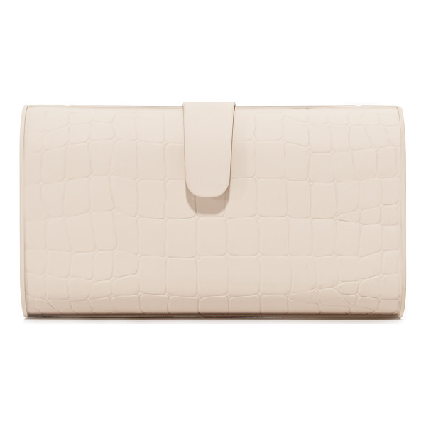 EDIE PARKER rebekah matte croc clutch - A hardshell Edie Parker clutch with a matte finish and